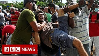 Cuba sees biggest protests against Communist government in decades - BBC News