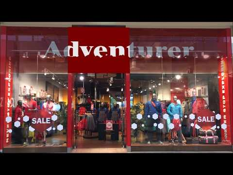 Adventure Store Shopfront Transparent LED Screen