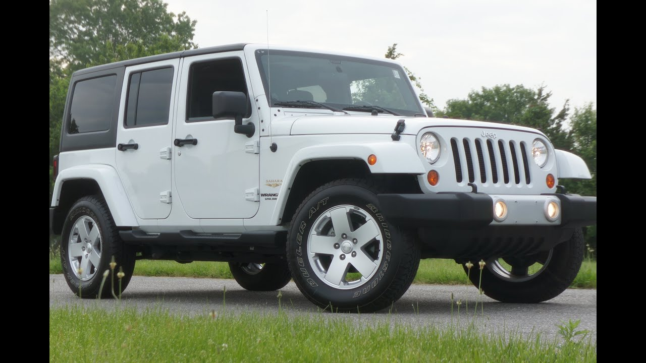 2012 Jeep Wrangler Unlimited Sahara For Sale~4 Doors~Low Miles~Two  Tops~Salvage Title~Sandy Storm   YouTube