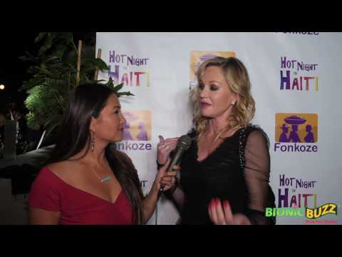 Melanie Griffith Interview at Hot Night in Haiti Charity Event