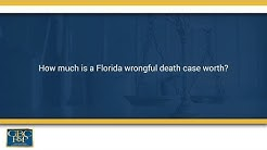 how much is a florida wrongful death case worth