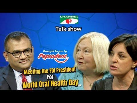 World Oral Health Day   Meeting The FDI President   Dr. Kathryn Kell   Ms. Arancha Cordero