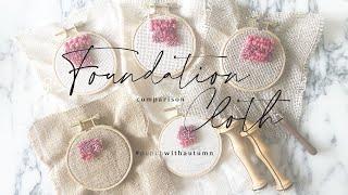 Punch Needle VS Foundation Cloth Comparison WithAutumn