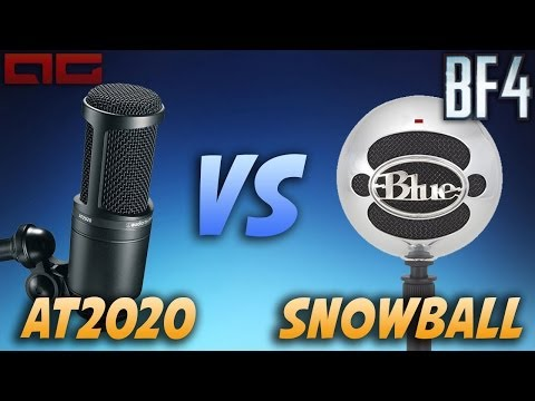 Audio Technica AT2020 vs Blue Snowball Microphone - Channel Update (Battlefield 4 Gameplay)
