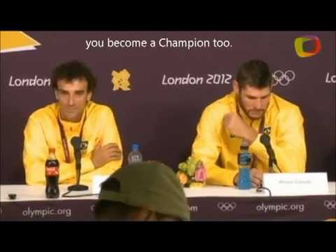 Silver Olympic Champions Alison Cerutti / Emanuel Rego emotional press conference after final match