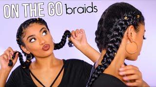 vuclip On The Go Two Braid Tutorial! No Extensions | jasmeannnn