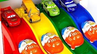 Learning Colors Lightning McQueen Disney Pixar Cars & Slide Surprise Egg Superhero Toys