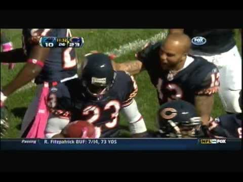 Devin Hester 69 yard Punt Return Touchdown against the Carolina Panthers