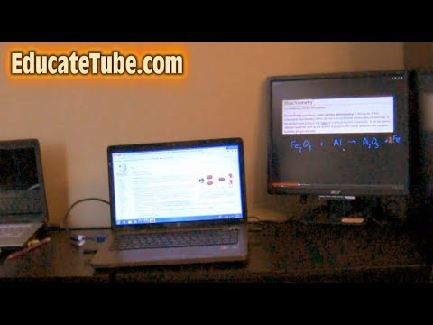 How to split two computer screens using an external LCD monitor for