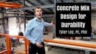 Concrete mix design for concrete durability