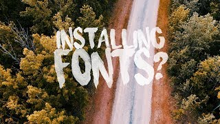 MY FAVORITE FREE FONTS! + HOW TO INSTALL THEM