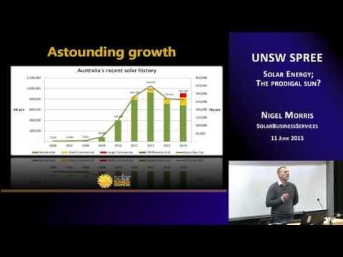 UNSW SPREE 201506-11 Nigel Morris - Solar Energy; The prodigal sun?