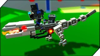 РОБОТ ВЕРХОМ НА ДИНОЗАВРЕ - Clone Drone in the Danger Zone Битва роботов. Игра как мульт про роботов