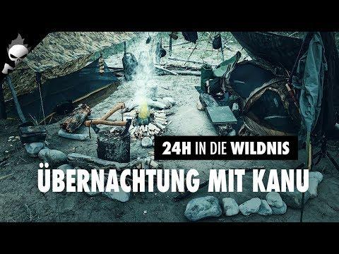 24H mit KANU in die WILDNIS –Vorstellung Boot, Bushcraft Camp, Overnighter, Lagerfeuer Übernachtung
