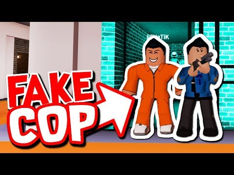 FREEING EVERY PRISONER AS FAKE COPS!!  Roblox Jailbreak Fake Cop Trolling