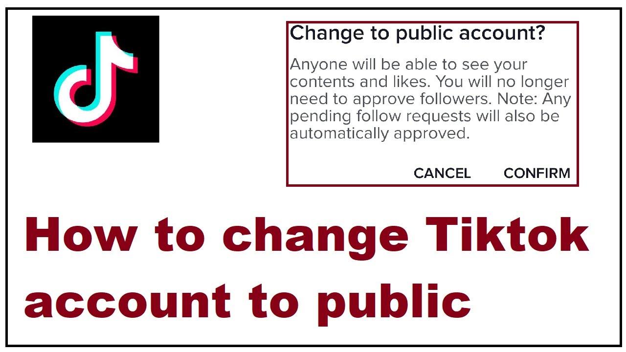 How To Change Tiktok Account To Public Youtube
