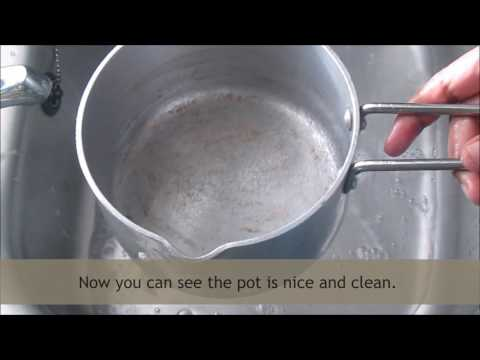 How to clean burnt pots | Easy way of cleaning the aluminium, stainless steel and non-stick pans