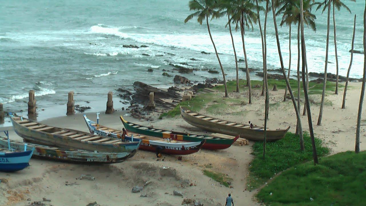 Beach Fishing Cape Coast Accra Ghana Youtube