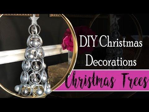 DIY Christmas Decorations - Table Top Christmas Trees