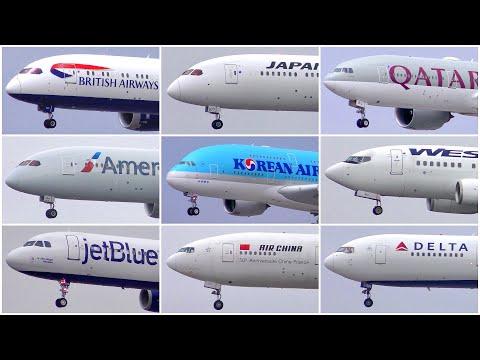 [4K] 28 ARRIVALS AT LAX | JUNE (GLOOM) 2019 | PLANE SPOTTING | A380 787 767 777 A319 737