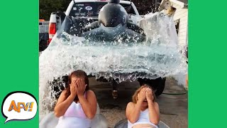 Watch Them Get WASHED AWAY! 😅😆 | Funny Vehicle Fails | AFV 2020