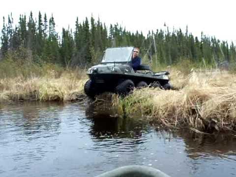 ARGOPOWER Argo 8x8 takes a plunge off a beaver dam