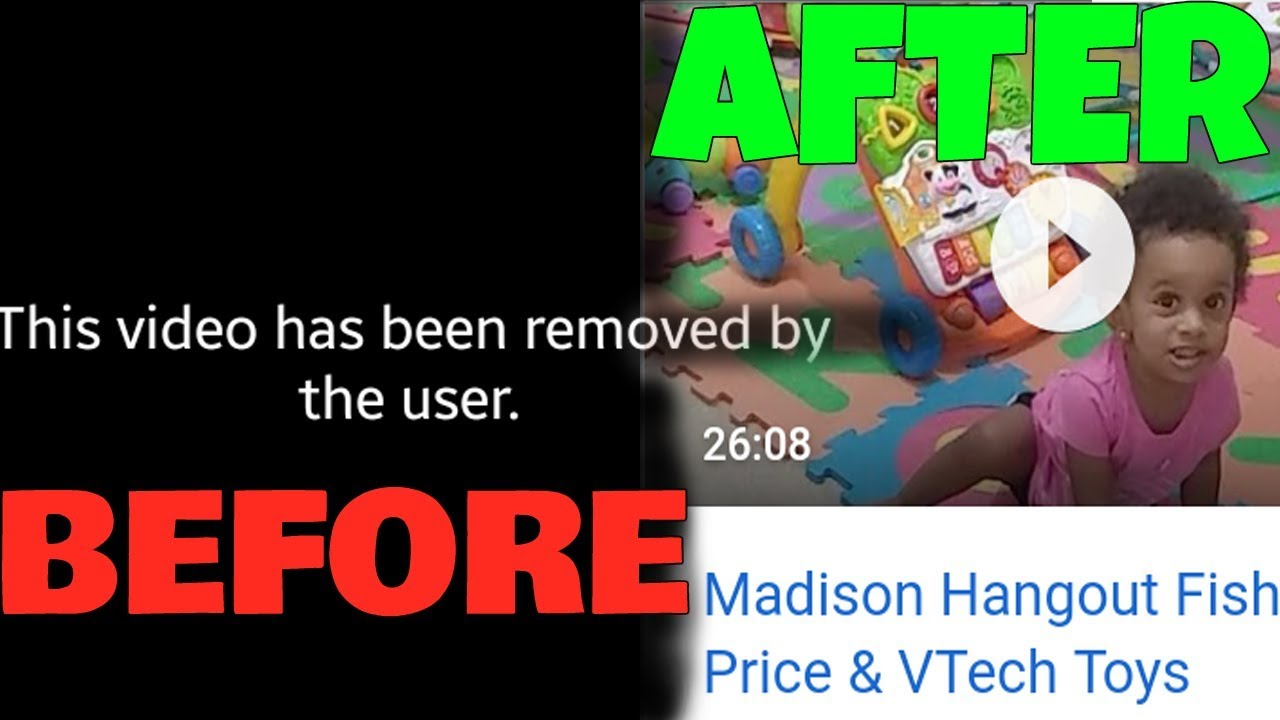 How To Restore / Recover A Deleted YouTube Video Keep Views, Likes, &  Comments *PROOF*