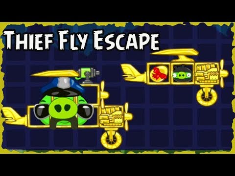 Bad Piggies 2018 Thief Pigge Fly Escape Silly Invention #118