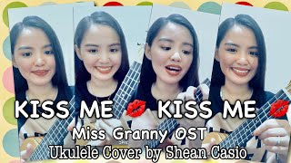 KISS ME, KISS ME by Sarah Geronimo | Ukulele Cover with Chords by Shean Casio (Vertical Video)