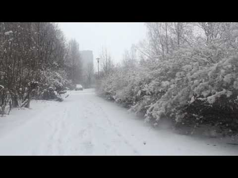 Петрозаводск под снегом в апреле