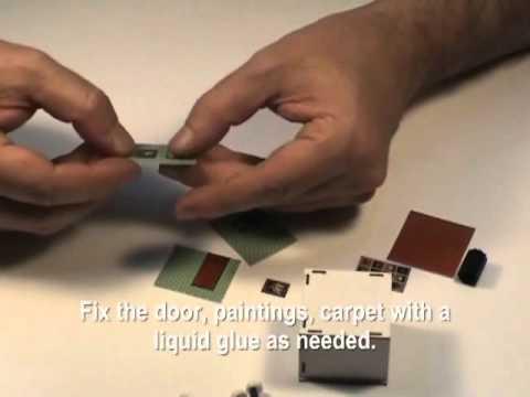 Model Train HO Interior Room kit from Proses LS-002