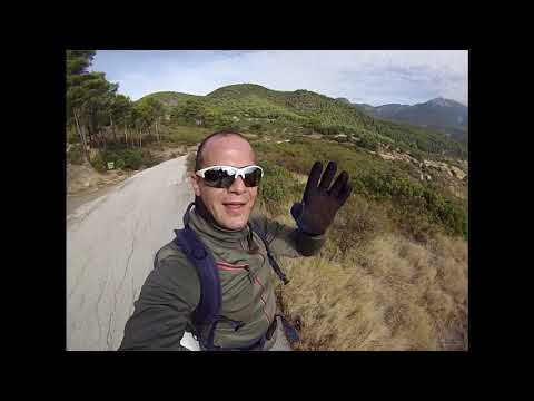 mtb fast ride in open dirt road-gopro hero3+