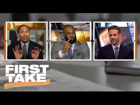 Stephen A. Smith gets on Max for changing argument on Adrian Peterson | First Take | ESPN