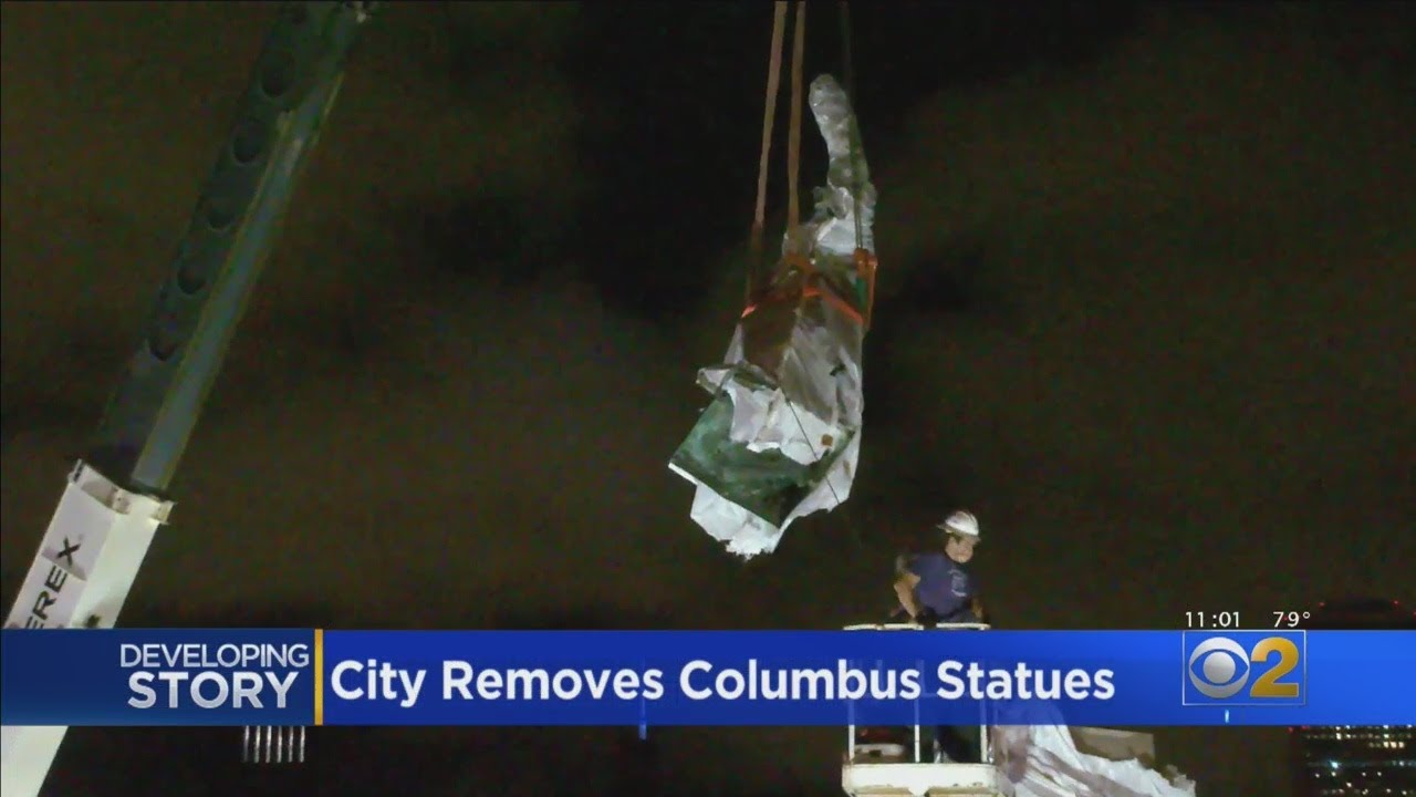 The Mayor's Overnight Removal Of 2 Christopher Columbus Statues ...