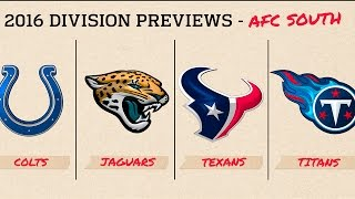 AFC South 2016 Preview | Move the Sticks | NFL