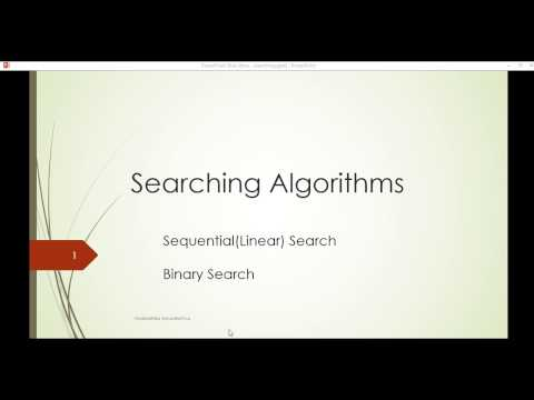 Searching Algorithms