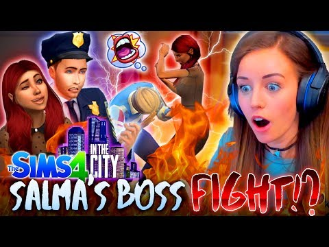👊SALMA FIGHTS HER BOSS...😅 (The Sims 4 IN THE CITY #2! 🏩)