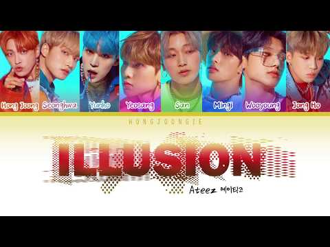 ATEEZ (에이티즈)ILLUSION(Color Coded Lyrics Han/Rom/Eng)