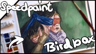 👁 BIRDBOX 🦅Netflix Original 📸 【Watercolor Speedpaint】|| Fan-Art