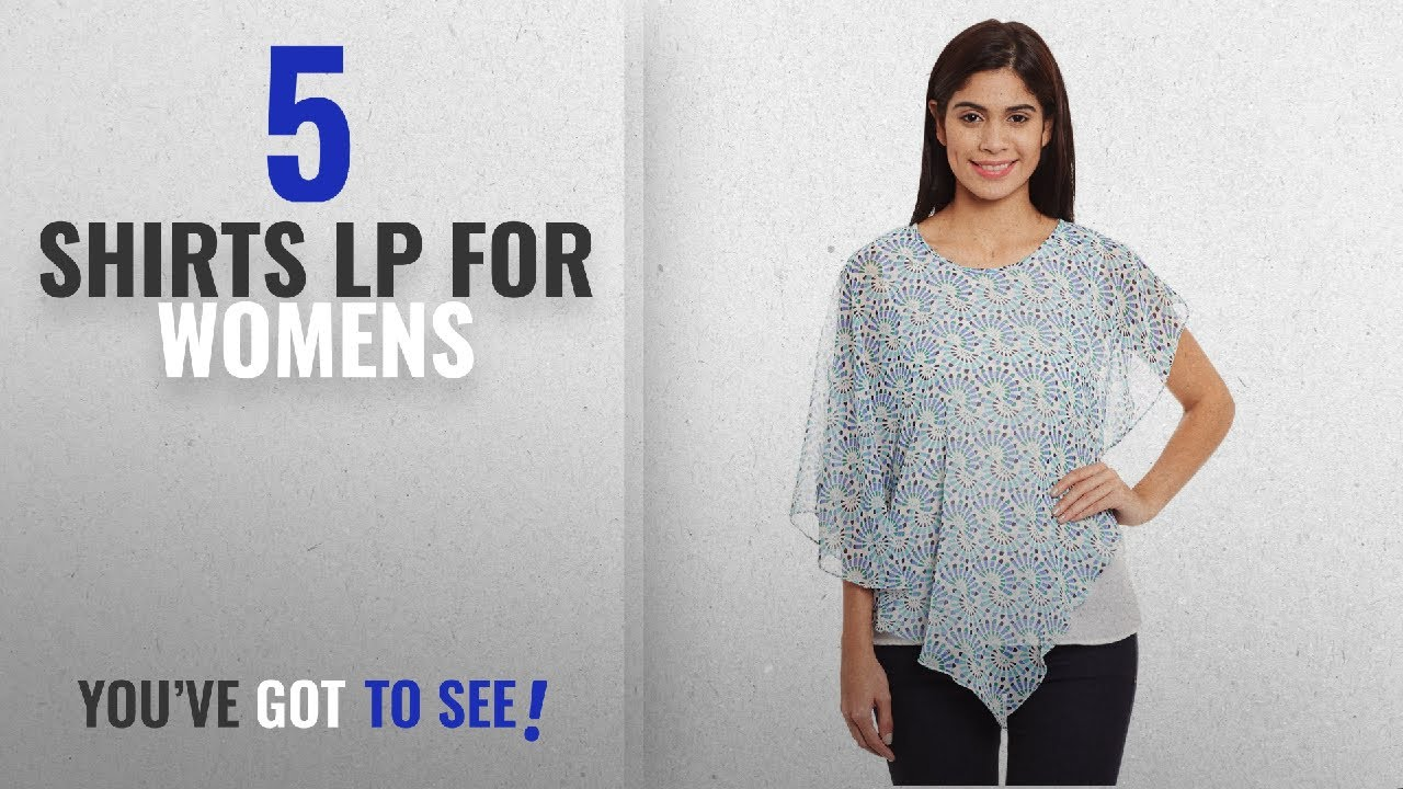 36e53fe92e699e Top 10 Shirts Lp For Womens  2018   The Vanca Women s Double layer flounce  top in blue print