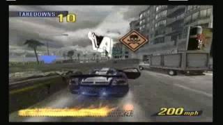 burnout 3 takedown xbox gameplay video, burnout 3 takedown