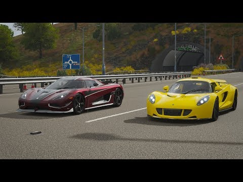 Forza Horizon 4 Drag race: Hennessey Venom GT vs Koenigsegg Agera RS