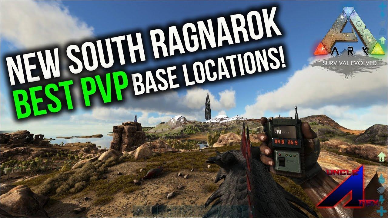 New south Ragnarok BEST PVP Base locations   ARK: Survival Evolved    Ragnarok