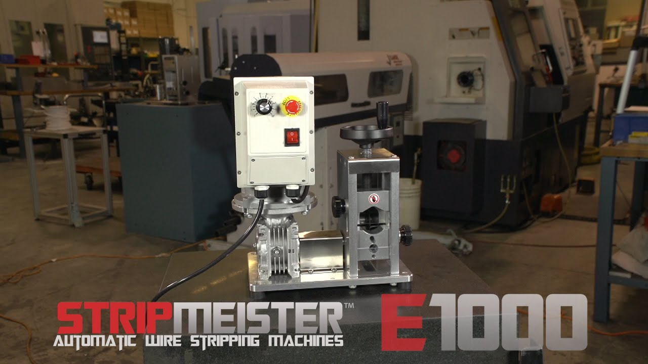 StripMeister E1000 Automatic Wire Stripping Machine - YouTube