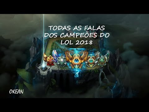 Todas As Falas Dos Campeões Do Lol 2018 Youtube