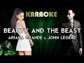 Ariana Grande, John Legend - Beauty and the Beast (Karaoke Instrumental) | Lower Key Version
