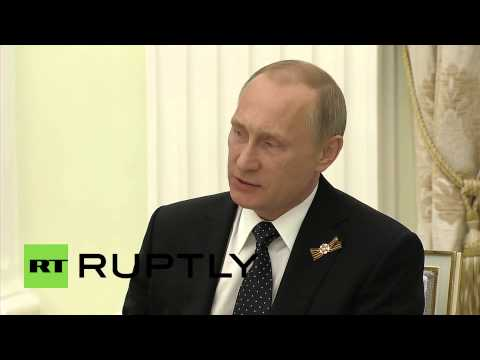 Russia: Putin thanks UN Sec-Gen Ban Ki-moon, who replies in Russian