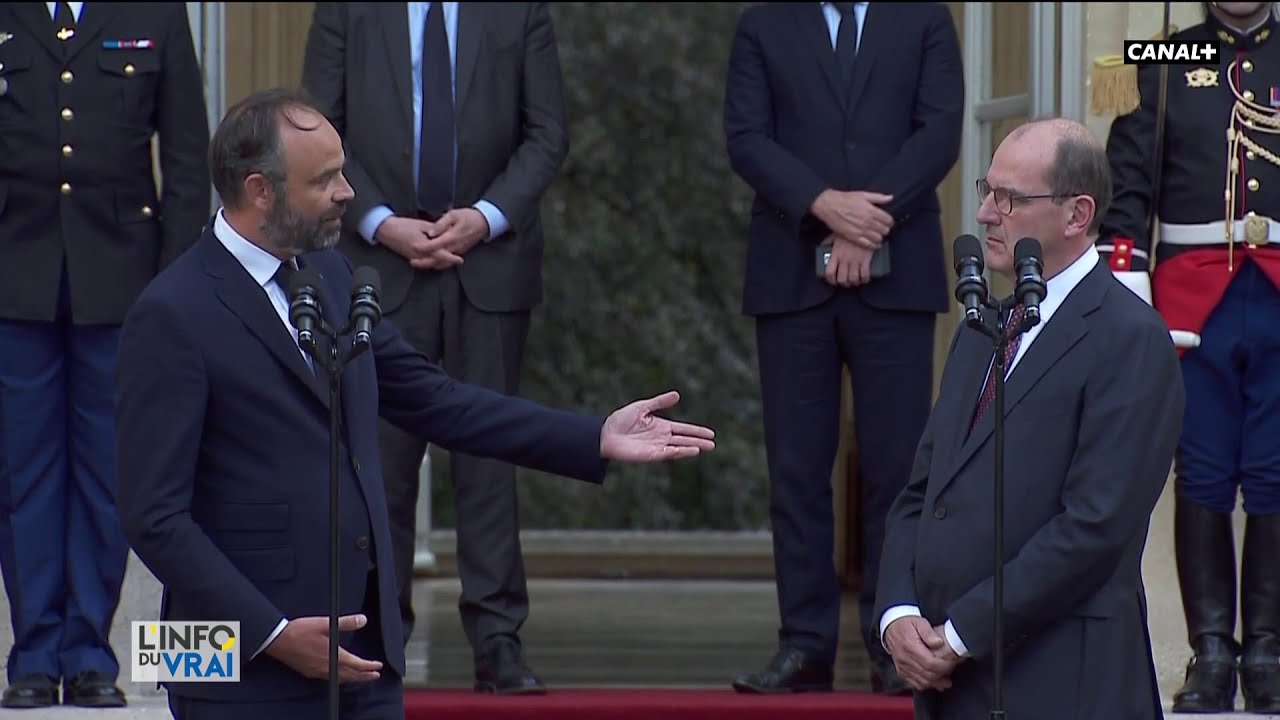 Passation de pouvoir entre Edouard Philippe et Jean Castex