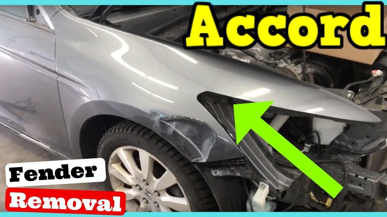 2008 2009 2010 2011 2012 Honda Accord Fender Removal How To Remove Replace Install Youtube