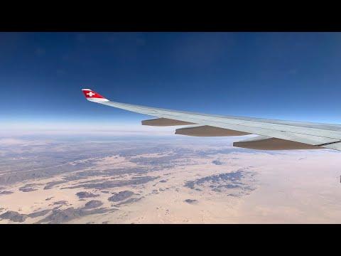 """Swiss A330-300 Zurich (ZRH) To Johannesburg (JNB) """"Full Flight"""""""